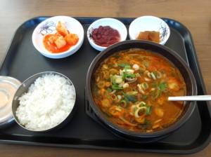 釜山駅朝食1